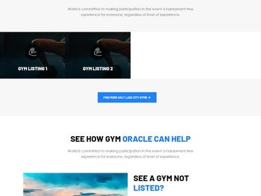 Gym Listing website