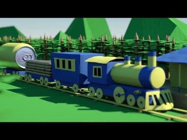 Paper train animation