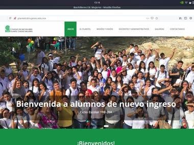 """Web page """"Colegio de Bacilleres"""""""