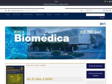 "Web page ""Revista Biomédica"""
