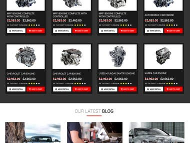 Car Parts Online Shopping Website