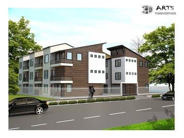 4. Exterior Building facade design