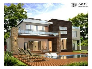 1. Exterior Building facade design