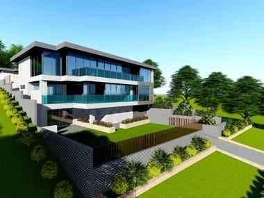 5. Exterior Building facade design