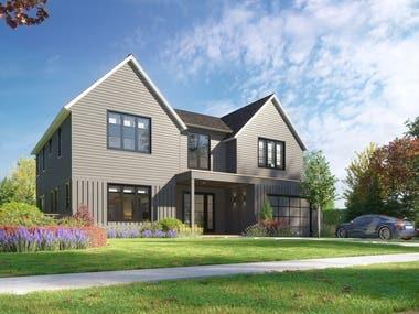 3D Timber house