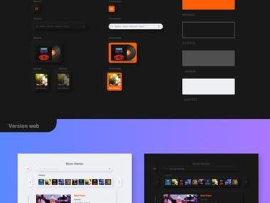 Music Mania / app design