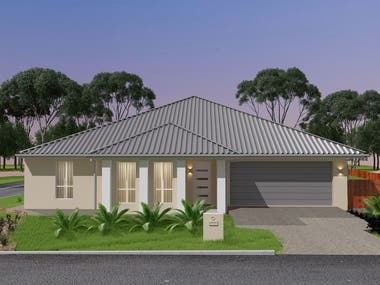 Australian house - 3d modelling and visualization