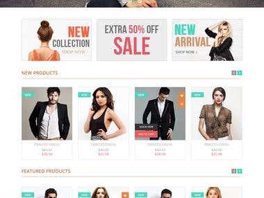 E commerce template design.