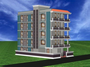3D View of a Residential Building
