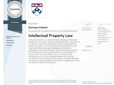 Intellectual Property Rights Law-University of Pennsylvania