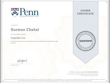 Copyright Law-University of Pennsylvania