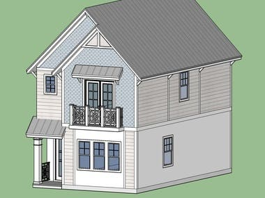 3d model of the house in sketchup
