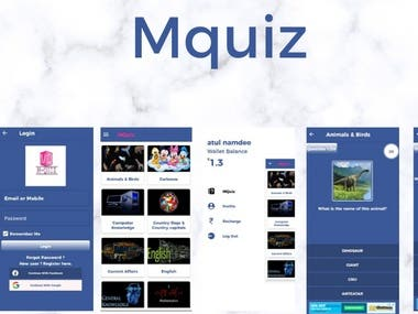 A category based Quiz Application.