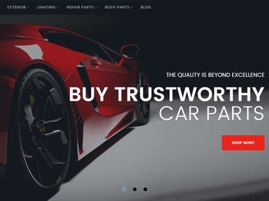 Shopify site for car's product parts