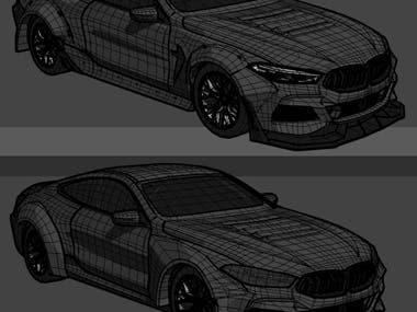 BMW M8 Game Car Model