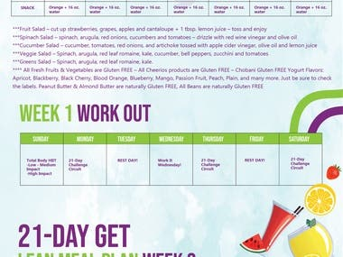 21 DAYS MEAL PLAN DESIGN