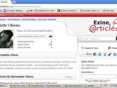 Ezine Profile