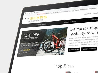 e-Commerce Website for E-Gears