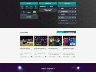 Football Clab Website San Pedro Pirates FC