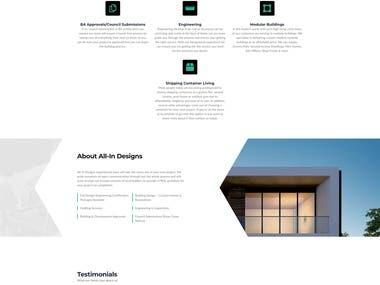 All In Designs Website