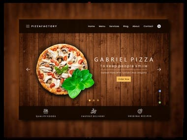 Pizza Resturant Delivery Web and App