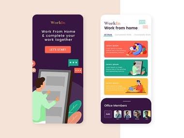 Work in Home App