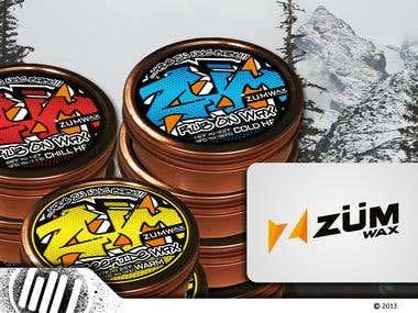 Zum Wax Graffiti Label Design