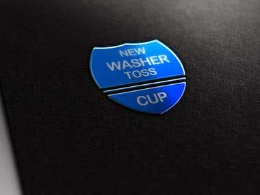 New washer toss cup LOGO