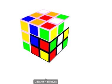 ThreeJS RubikCube 3D Dynamic Animation