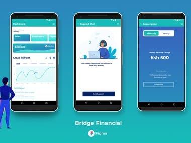 Bridge Financial App UI/UX Design