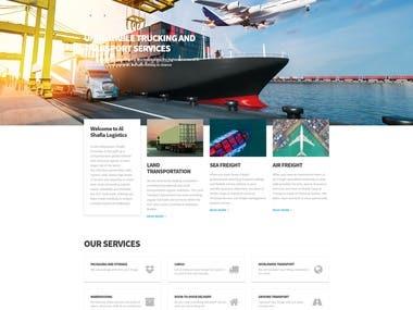 Cargo Transportation WordPress Website
