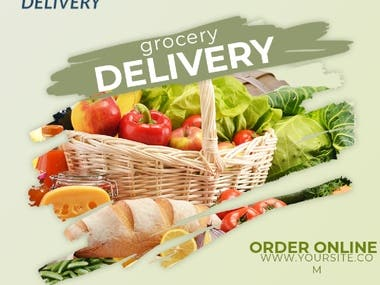 Grocery delivery banners