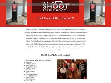 Oh Shoot Selfie Booth Website Design and Development