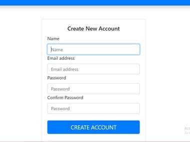 User management addition to an existing website