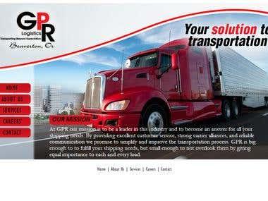 GPR Logistics Website