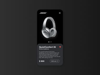 Headphones product page