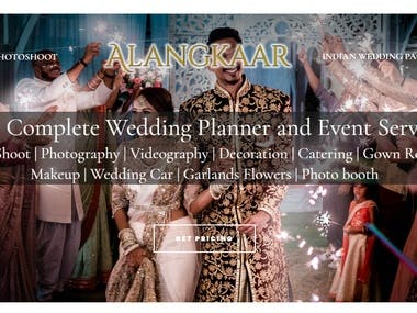 Wedding Planner and Event Services website