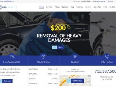 Auto-repair website