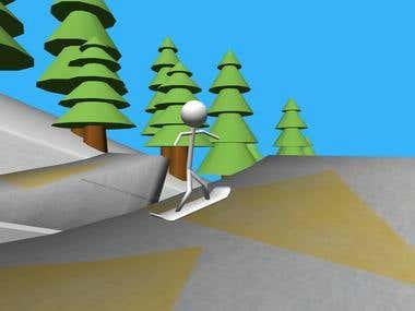 Stickman Snowboard