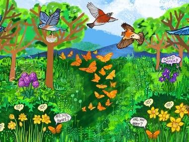 Part of illustrated children book
