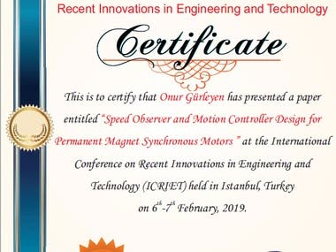 Certificates about Control Systems