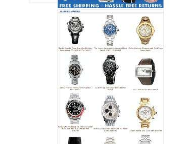 Oscommerce Watch Selling Site
