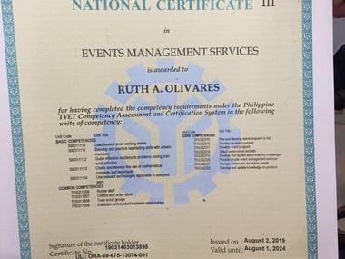 Event Management NCIII