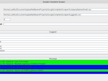 Java Scraping Software