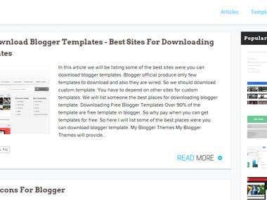 Blogger Panda - Custom Design