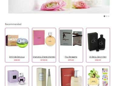 Perfume shopping website development and design