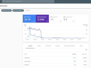 OUR 6 MONTHS SEO SERVICE RESULT