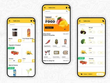 Get On-Demand Grocery/Food Delivery App with admin Panel