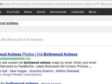 Optimization of Bollywood website for 4000+ Keywords