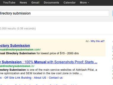 Optimization of Manual Directory Submission Site